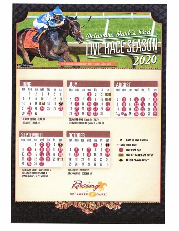 Calendar of racing events