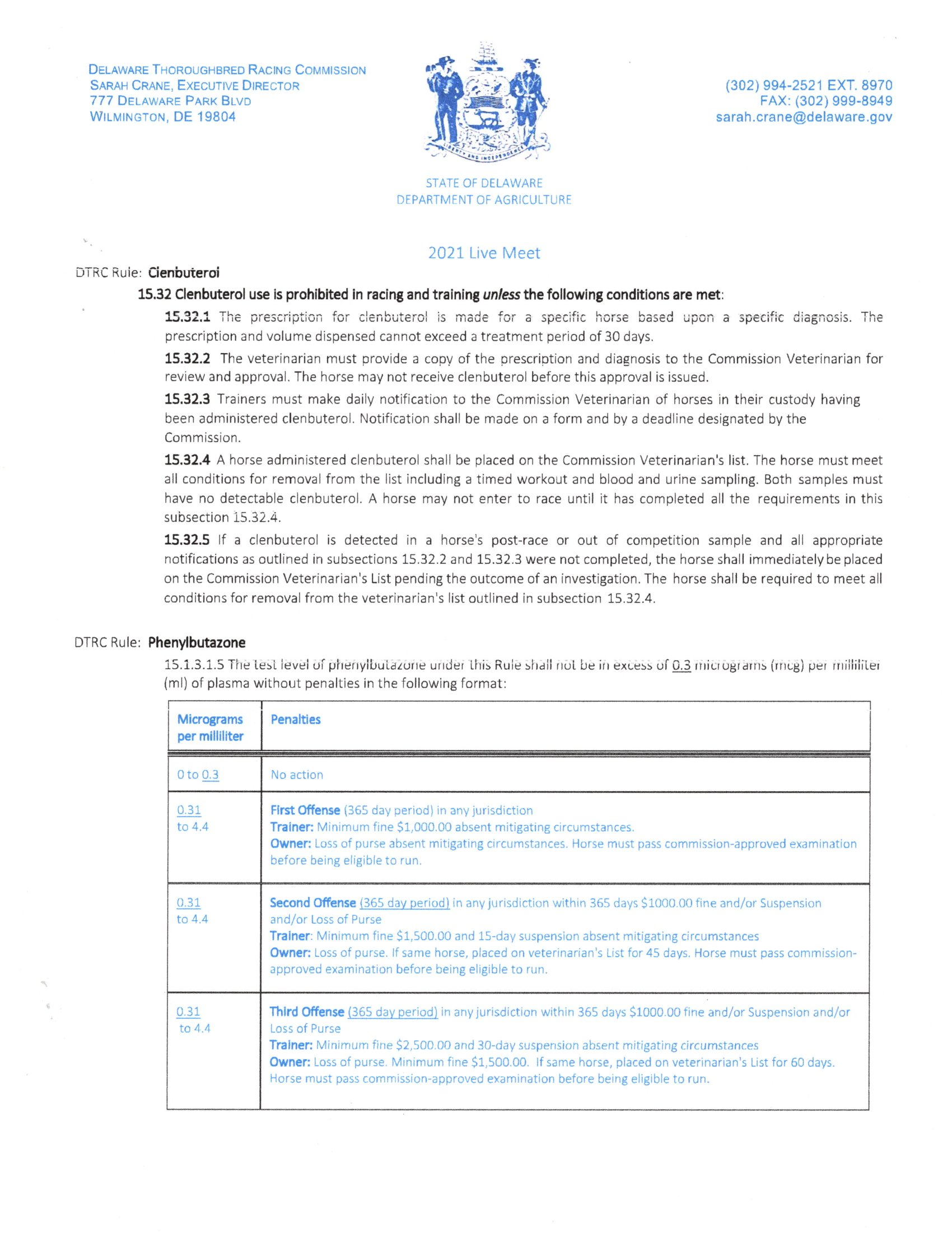 DRTC Rule Change 2020